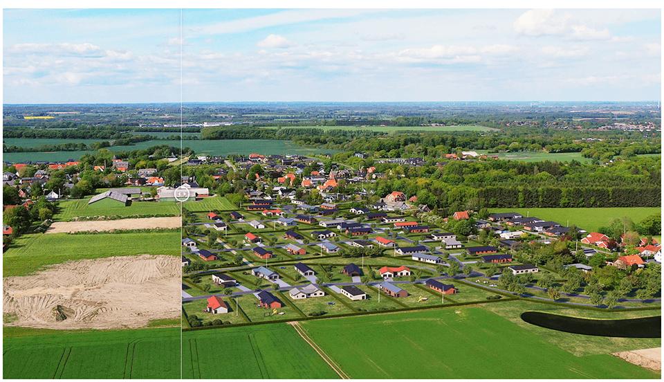 Før og efter visualisering